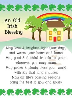 Irish Themed Saint Patrick's Day Card with your own Handwriting. Cards By Gail Pepin for Signed - Card No. 10254 St Patricks Day Cards, St Patricks Day Quotes, Saint Patricks, Old Irish Blessing, Irish Prayer, St Patrick's Day Movies, Kid Movies, Send A Card, St Pats