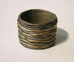 Ring: Earrings: stainless steel, gold www.i-techne.pl