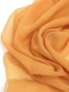 Dark Orange sheer curtains fabric 118 inches wide by Eleptolis, $20.00