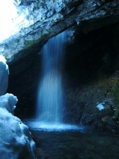 Donut Falls in Big Cottonwood Canyon UT, 1.4 miles out and back, more difficult for kids (steeper trail)