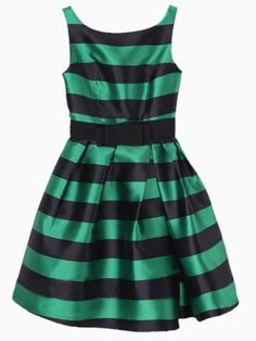 green and black striped dress - $50
