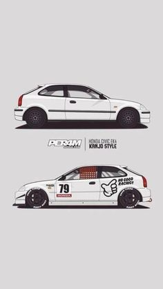 Honda V, Honda Cars, Jeep Cars, Honda Civic Coupe, Honda Civic Hatchback, Honda Civic Si, Civic Eg, Retro Cars, Art Cars