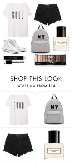 """""""black and white"""" by princesskateboo ❤ liked on Polyvore featuring MANGO, Converse, Joshua's, Alexander Wang, Marc Jacobs and Christian Dior"""