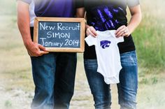 Our baby announcement! Football Baby, Football And Basketball, Football Pregnancy Announcement, Cute Baby Announcements, Baby Planning, Maybe Someday, Little Miss, Baby Cards, Baby Fever