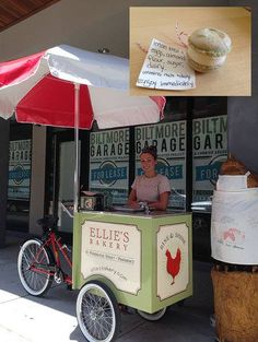 Macaroon cart from Ellie's Bakery (Source: RI Food Fights/Aug. 1, 2013)