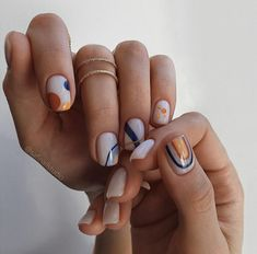 Nail Design Stiletto, Nail Design Glitter, Stylish Nails, Trendy Nails, Manicure For Short Nails, Short Nails Art, Classy Nails, Cute Acrylic Nails, Cute Nails