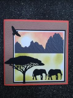 Gemaakt met snijmallen uit de Wild Animals collectie van Amy Design.