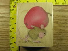 Stampinsisters Rubber Stamp House Mouse Heavy Lifter Stampabilities #511 #Stampabilities
