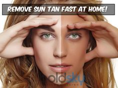 Remove sun tan at home without spending a single rupee... Take a look !