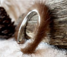 Art to Wear Mink covered silver plated cuff inspired by BerlinGlam, €29.90