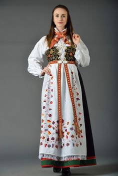 Bunad from Åmli, Aust-Agder, Norway Folk Costume, Costumes, Norwegian Clothing, Historical Women, Folk Fashion, Classy Outfits, Traditional Dresses, Norway, Vintage Dresses