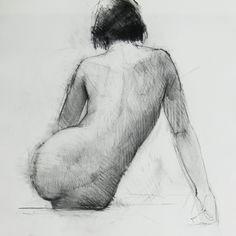 Figure Study - Original Drawing (FD 54).