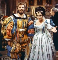 "Katherina (Elizabeth Taylor) and Petruchio (Richard Burton) in ""The Taming of the Shrew""."