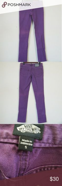 Vans Purple Jeans Purple Jeans used only once.*No trades *I am happy to answer questions about fit, and take measurements if needed *To avoid scammers I will only sell to people that have items on their closet or have reviewed other items. Vans Jeans Skinny