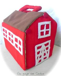 variation on the quiet book, a red barn. Could use foam camping 'mattress' for structure