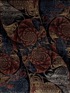 One of a Kind - Modern - 130854 ART TECH WOOL & SILK SPIRAL - Samad - Hand Made Carpets