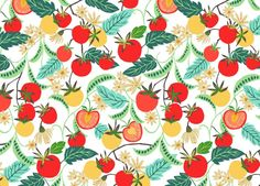 tomato dance repeat :: Great idea for an embroidery project.