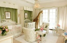 The Royal Nursery: 12 Jaw-Dropping Room Ideas for Your Prince or Princess - Alt. The Royal Nursery Nursery Twins, Nursery Room, Baby Twins, Baby Boy, Giraffe Nursery, Jungle Nursery, Animal Nursery, Nursery Themes, Playroom Design