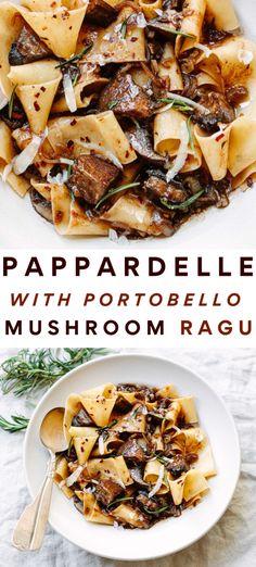 Vegetarian Recipes Dinner, Veggie Recipes, Cooking Recipes, Healthy Recipes, Vegetarian Recipes With Mushrooms, Simple Pasta Recipes, Mediterranean Vegetarian Recipes, Vegetarian Dishes Healthy, Portobello Mushroom Recipes
