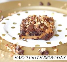 Easy Turtle Brownies #mixinmoments #CollectiveBias #ad