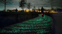 Overdag is dit 600 meter lange fietspad misschien niet zo bijzonder, maar zodra 's avonds het licht uit gaat geloof je je eigen ogen niet. Duizenden lichtgevende steentjes leiden je de weg van Nuenen naar Eindhoven (en weer terug).