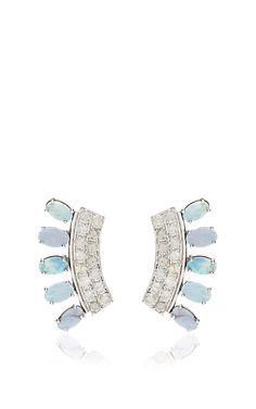 Opal and Diamond Ear Cuff by Shawn Ames - Moda Operandi