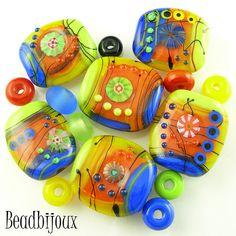 Playground - lampwork beads by beadbijoux.com