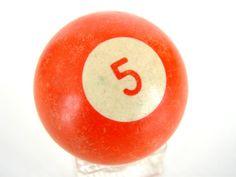 vintage #5 ball