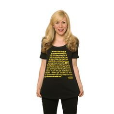 May the Force be with you, Multiple Language Tee, available in plus size, $25, HerUniverse.com