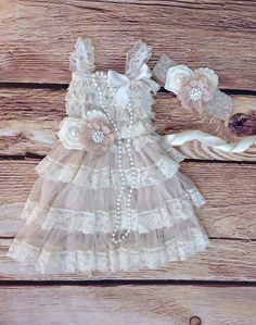 Hey, I found this really awesome Etsy listing at https://www.etsy.com/listing/199132091/tan-beige-lace-burlaptoddler-baby-girl