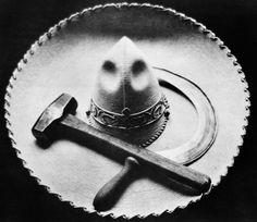 T. MODOTTI (1896-1942), Faucille, marteau et sombrero, 1927