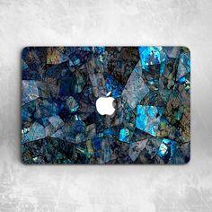 82839efa168 Cracked Dark Blue Marble Hard Cover Case For Macbook Pro Retina Air 11 12  13 15