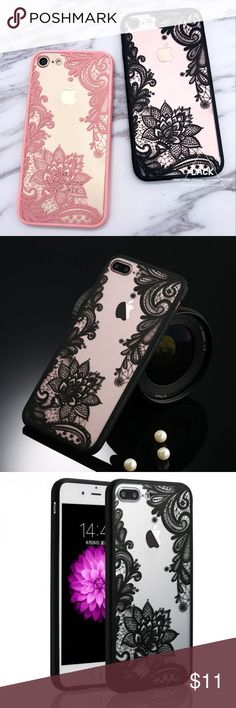 iPhone 7 Luxury Sexy Henna and Clear Case Sexy Floral Lace Mandala Case For iPhone 7 Plus Fashion Vintage Flower Clear Phone Cases Hard Acrylic PC Capa Elegant Accessories Phone Cases