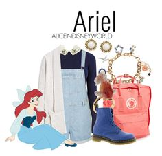 """Ariel"" by aliceindisneyworld ❤ liked on Polyvore featuring Accessorize, Oasis, Fjällräven, Topshop, Nach, Dr. Martens, MANGO, Lab and Kendra Scott"