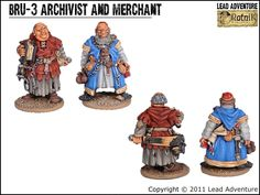 Scholar and Merchant from Lead Adventure. Lead Adventure, Fictional Characters, Rpg, Fantasy Characters