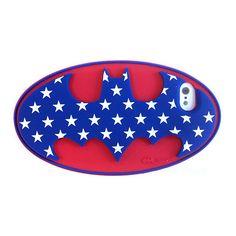 【【iPhone5s/5 ケース】バットマン シリコンカバー ロゴRD】●音量調整ボタンや電源ボタンなど、各ボタンも特殊成型により押し…