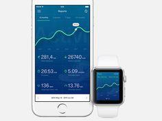Running Reports by Mattias Johansson #UX #UI #interface #dribbble #behance #designer #ramotion ramotion.com