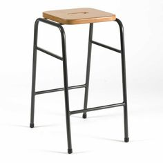 Stackable lab stools for schools, colleges, universities, science research centres & nhs hospitals with wooden seats on robust hard wearing steel frames and avoid scratching. Available with steel feet for use on non-slip flooring. Classroom Stools, Classroom Design, Non Slip Flooring, School Furniture, Steel Frame, Bar Stools, Chair, Kitchen Ideas, Lab