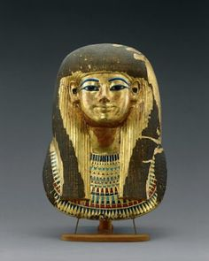 *THE GOLDEN MASKL OF TJUJU:   mother of Queen Tiye + grandmother of the mummy in KV55, both were discovered by: Theodore Davis.