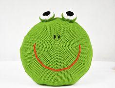Poduszka - żabka - FikuMikuShop - Dekoracje pokoju dziecięcego