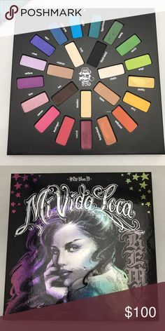 Kat Von D Mi Vida Loca Palette Limited Edition Palette! Swatched once. Beautiful vibrant colors. Just trying to scale down my collection. Kat Von D Makeup Eyeshadow