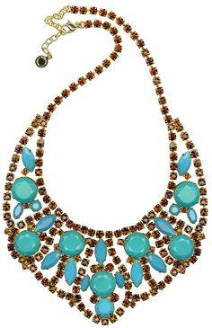 A wonderful combo of Swarovski Elements-turquoise and smoke topaz