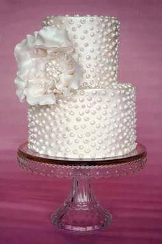 Beaded wedding cake.