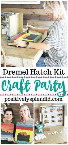 Pořádáme Craft Party doma se soupravami Dremel Hatch