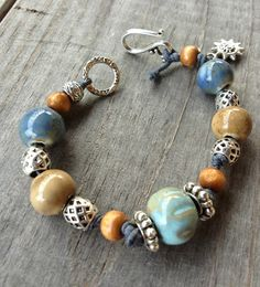 Blue Sunshine Bracelet by EsKayDesignsSK on Etsy