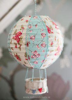 Φωτιστικό αερόστατο και η τεχνική του decoupage