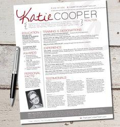 The Cooper Resume Template Design - Graphic Design - Marketing - Sales - Real Estate - Realtor on Etsy, $64.00
