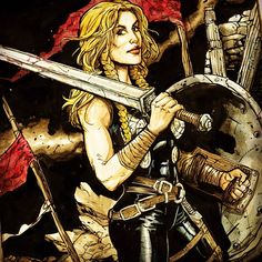 Valkyrie (Marvel Comics character) illustrated by Ryan Kelly.