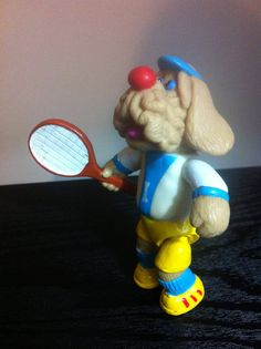 Check out this item in my Etsy shop https://www.etsy.com/listing/166438505/wrinkles-dog-vintage-plastic-4-tennis
