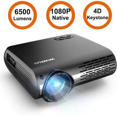 Buy Projector, WiMiUS Native LED Projector 6200 Lumen Video Projector Support Video Zoom Function Keystone Correction Hrs for Home Entertainment & PPT Business Presentation Full Hd Projector, Projector Reviews, Outdoor Projector, Movie Projector, Portable Projector, Cinema Experience, Home Theater Projectors, Video Home, Business Presentation
